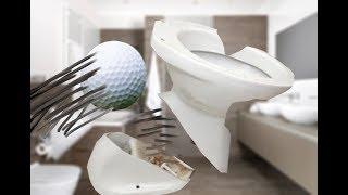 Breaking Toilets - dangerous golf