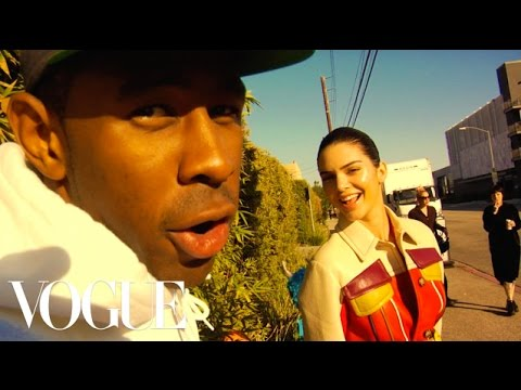 "Thumbnail: Kendall Jenner; Tyler, The Creator; and Travis ""Taco"" Bennett Take Over the Vogue Set"
