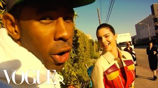 Kendall Jenner and Tyler, The Creator Take Over the Vogue Set | Vogue