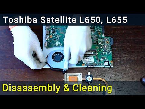 Toshiba Satellite L650, L650D, L655, L655D Disassembly And Fan Cleaning, разобрать почистить ноутбук