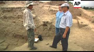 Rare Buddhist Statue unearthed in Kyrgyzstan