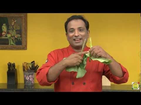 Aloo Ka path Pathe  Taro root leaves cooked in Maharashtrian style - By Vahchef @ Vahrehvah.com