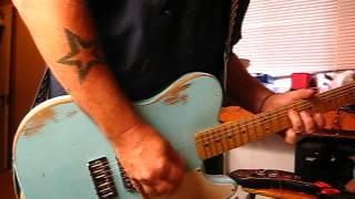 Mike Gee Kustoms Usa Custom Shop  Sonic Blue  La Cab-no-nita (cust Supplied Mim Neck)