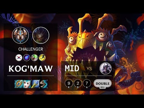 Kog'Maw Mid vs Syndra - KR Challenger Patch 10.10