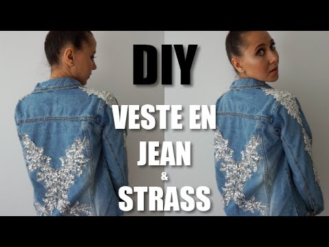 Diy En Avec Veste Strasscolashood2 Jean Youtube 55nfOrqSx
