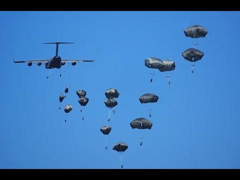 Desant wojsk NATO pod Toruniem / Biggest airdrop since cold war during war game in Polnad