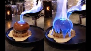 Pouring Fire On A Burger