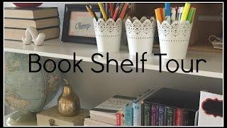 Spring Book Shelf Tour {Decor and Organization}