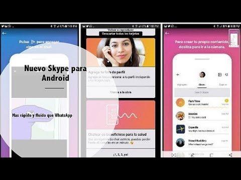 El nuevo Skype para Android · ¿Más rápida y fluida que  WhatsApp?