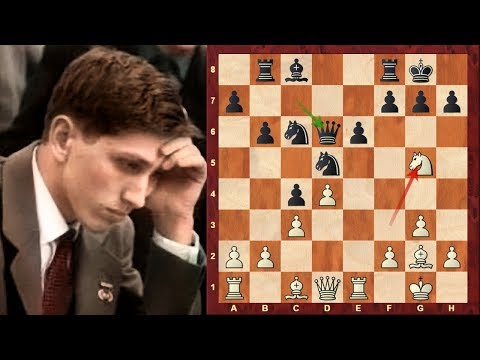 Amazing Chess Game: Bobby Fischer's first memorable game vs James Sherwin - Sicilian Defence KIA