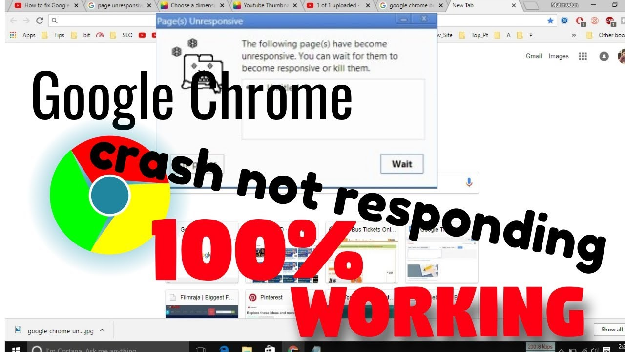 How to fix Google Chrome Page Unresponsive problem in Windows 10