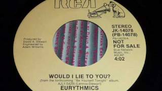 Eurythmics - Would I Lie To You 45rpm