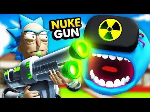 NEW Activating Ricku0027s NUKE BLASTER On MEESEEKS  (Rick and Morty: Virtual Rick-Ality Gameplay)