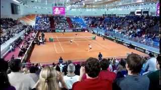 Большой теннис Кубок федерации 2015 полуфинал. Россия-Германия. Последняя подача.
