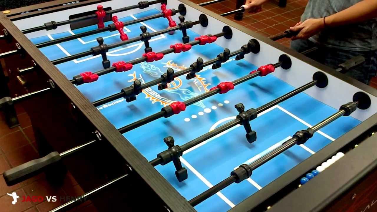 HD Fireball Foosball Singles Match Jago Red Vs Henry Black - Fireball foosball table
