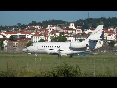 Dassault Falcon 2000EX (D-BIKA) RWY04 landing San Sebastian (EAS/LESO)