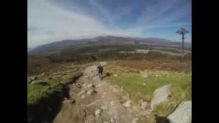 Fort William World Cup Downhill Track, Go-pro Head cam Footage 2013