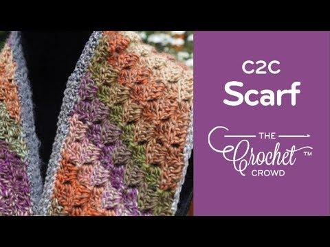 Crochet Corner To Corner Scarf Youtube