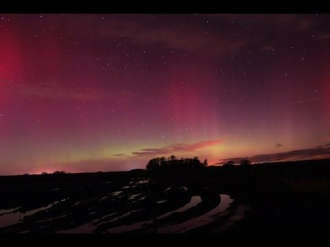 Northern Lights timelapse - South Gloucestershire - 27 February 2014 - Will Gater