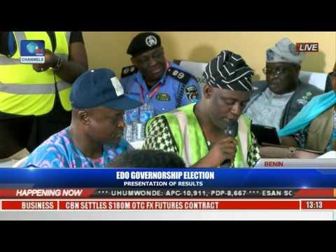 Presentation Of Edo Election Results: Ikpoba-Okha