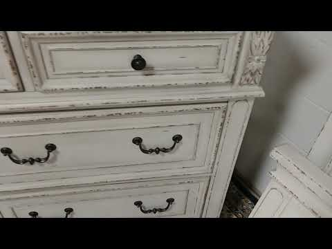 For Sale Renaissance  Queen Bed One Nightstand Dresser Mirror And Chest