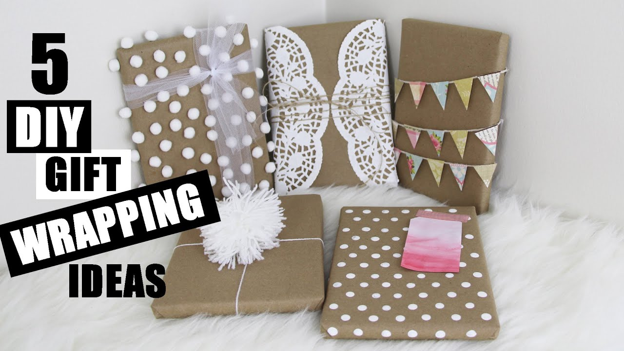 Gift Wrapping Ideas Part - 23: 5 Easy DIY Gift Wrapping Ideas Creative And Cute | StoreeOfMyLife - YouTube