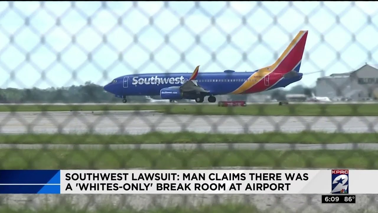 Southwest lawsuit: Man claims there was a 'whites-only' break room at airport