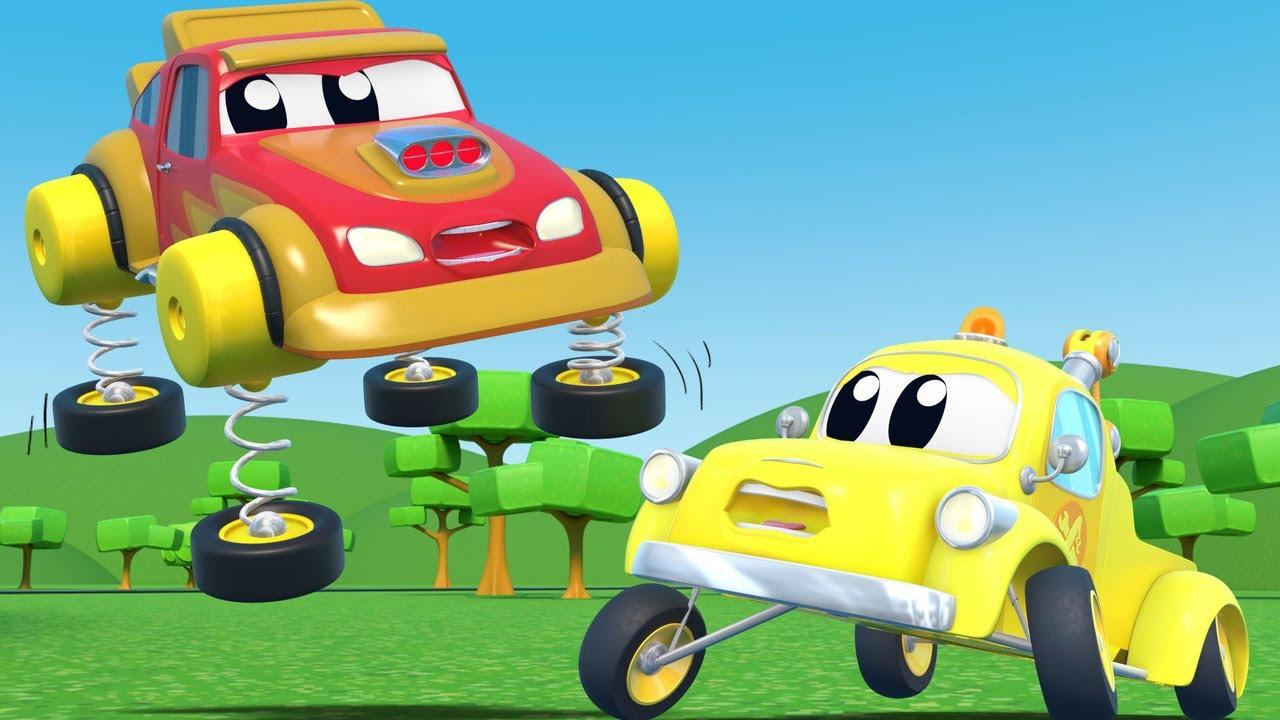 Những phát minh của Tom xe tải cứu hộ - NGÀY CÁ THÁNG 4:  Xe đua bị mất kiểm soát! - Phim hoạt hình