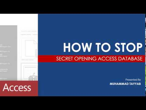 Secret Way to Open MS Access Database as Admin (Fixed)