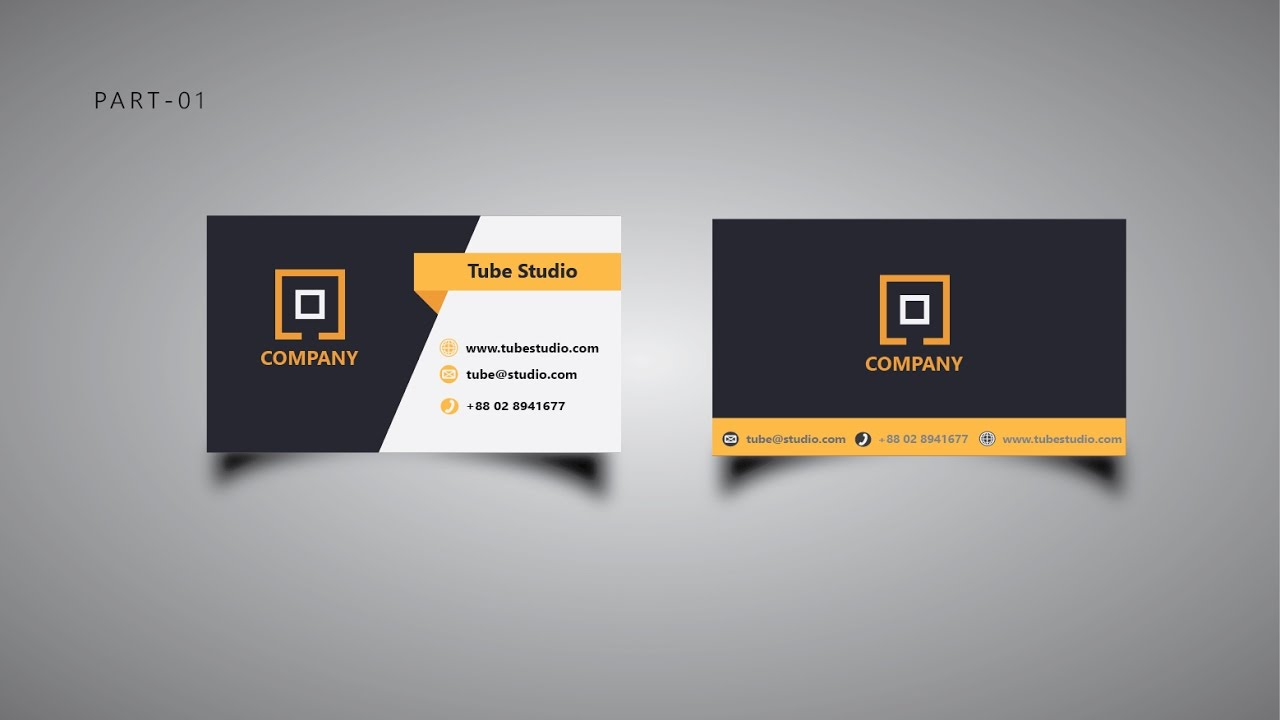Adobe Illustrator Cc Business Card Design Tutorial Part 01 Full