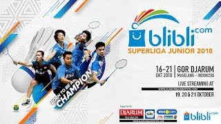 Blibli.com Superliga Junior 2018 - FINALS BOYS U19 - PB DJARUM vs EXIST BADMINTON CLUB