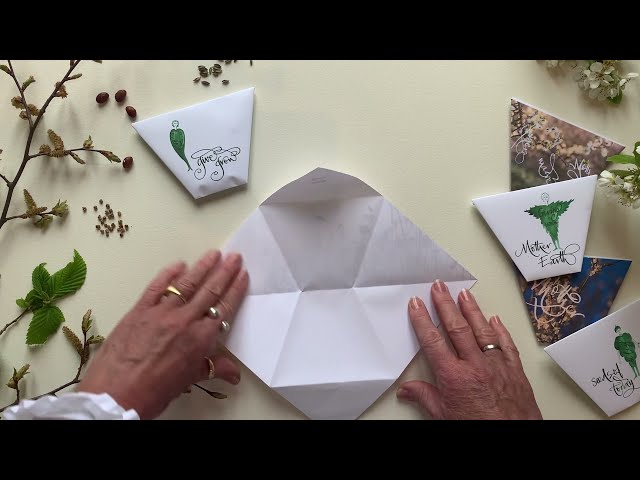 Making seed envelopes with Two by Two Creators