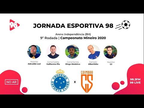 CRUZEIRO X COIMBRA | CAMPEONATO MINEIRO | RÁDIO 98FM AO VIVO