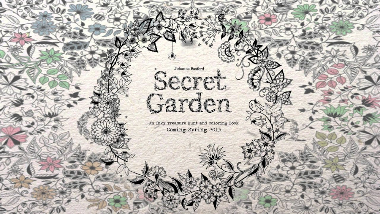 Secret Garden: An Inky Treasure Hunt and Coloring Book - YouTube