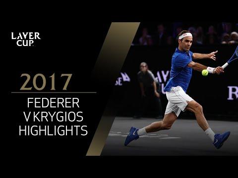 Roger Federer v Nick Kyrgios highlights (Match 12) | Laver Cup 2017