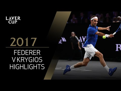 Roger Federer v Nick Kyrgios highlights (Match 12) | Laver Cup 2017