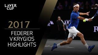 Roger Federer v Nick Kyrgios highlights (Match 12)   Laver Cup 2017
