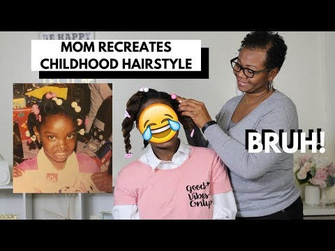 Mom Recreates Childhood Hairstyle | Natural Hair