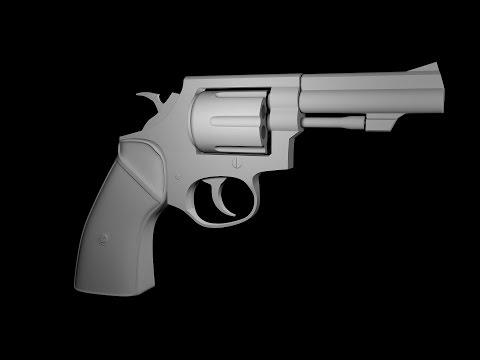 Modeling Revolver  3ds max tutorial part - 1
