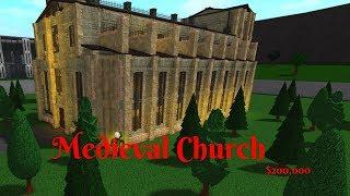ROBLOX BLOXBURG Medieval Church!