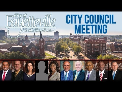 Fayetteville City Council Meeting -  May 14 2018