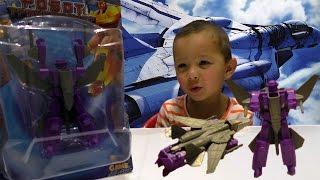 Автоботы самолёт робот трансформер для детей мультик Обзор игрушек Robots Transformers Autobot