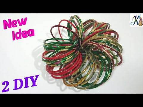 How to reuse old Bangles at home | best out of waste | diy art and craft  | old bangles craft ideas