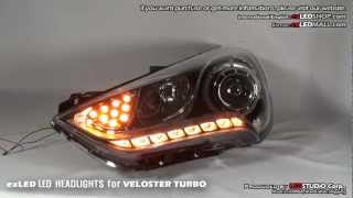 exled headlights led tuning for veloster turbo