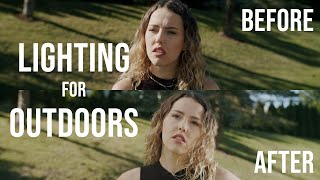 How to Light Outdoor Daylight (With No Lights) | Cinematic Lighting
