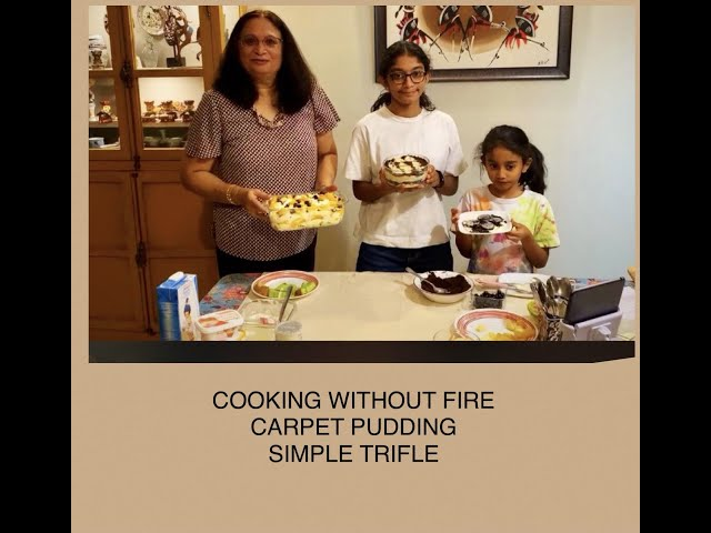 COOKING WITHOUT FIRE - EPISODE 3 - CARPET PUDDING AND A SIMPLE TRIFLE - live on Amul Facebook Page