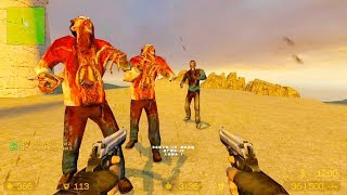 Counter Strike Source - Zombie Horde Mod Online Gameplay on cs_fort_sand_fox_propless map