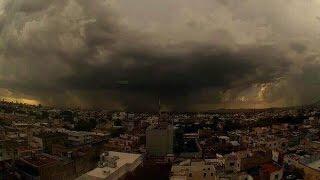 Momentos en el que el Huracán Patricia llega a México 23 Octubre 2015