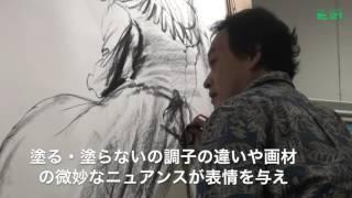 2016年9月10日に横浜高島屋7F美術画廊で開催されたライブペインティング...