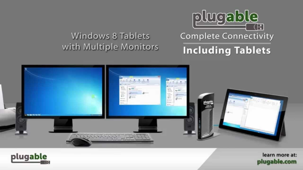 Plugable UD-3900 Dual-Display Universal Docking Station - Connect up to 10  accessories through a single SuperSpeed USB 3 0 port - Now with Mac